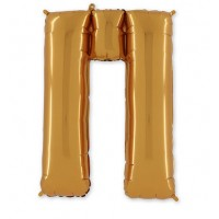 Фольгированная Буква П золото (102 см)